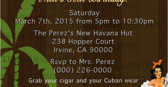 Havana Nights Party Invitation Template Havana Nights Birthday Invite Digital