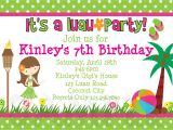 Hawaii Party Invitations Printable Birthday Invitations Luau Party Little Girl