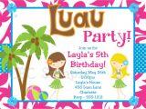 Hawaii theme Party Invites 20 Luau Birthday Invitations Designs Birthday Party