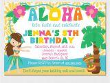 Hawaii theme Party Invites Luau Invitation Luau Birthday Party Luau Pool Party