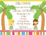 Hawaii theme Party Invites Party Invitations Awesome Hawaiian Party Invitations