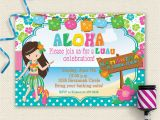 Hawaiian Birthday Party Invitations Templates Free 20 Luau Birthday Invitations Designs Birthday Party