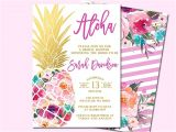 Hawaiian Birthday Party Invitations Templates Free Best 25 Hawaiian Invitations Ideas On Pinterest Luau