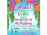 Hawaiian Birthday Party Invitations Templates Free Luau Invitation Printable or Printed with Free Shipping