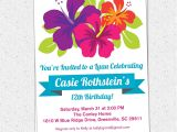 Hawaiian Bridal Shower Invitations Templates Luau Invitation Template