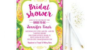 Hawaiian Bridal Shower Invitations Templates Tropical Bridal Shower Invitation Pineapple Bridal