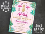Hawaiian Bridal Shower Invitations Templates Tropical Bridal Shower Invitation Template