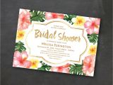 Hawaiian Bridal Shower Invitations Templates Tropical Printable Bridal Shower Invitation Template Luau