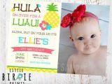 Hawaiian First Birthday Invitations Best 25 Luau Birthday Invitations Ideas On Pinterest