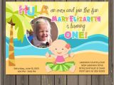 Hawaiian First Birthday Invitations Luau 1st Birthday Invitation Hawaiian Luau 1st Birthday