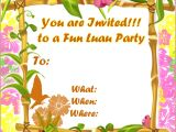 Hawaiian Party Invitations Free Printable Free Luau Invitations Templates Party Xyz