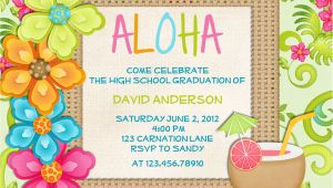 Hawaiian Party Invites Free 20 Luau Birthday Invitations Designs Birthday Party