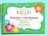 Hawaiian Party Invites Free 9 Best Images Of Free Printable Luau Invitations Free