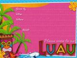 Hawaiian theme Party Invitations Printable Hawaiian Birthday Invitations – Gangcraft