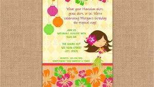 Hawaiian theme Party Invitations Printable Luau Clip Art
