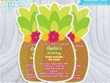 Hawaiian theme Party Invitations Printable Luau Invitations Pineapple Hawaiian Invitation Invites