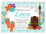 Hawaiian theme Party Invitations Printable Print at Home Diy Invitation Blank Luau Party Invitations