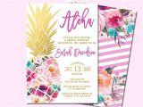 Hawaiian theme Wedding Invitations Best 25 Hawaiian Invitations Ideas On Pinterest Luau