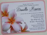 Hawaiian theme Wedding Invitations Bridal Shower Invitations Hawaiian themed Bridal Shower