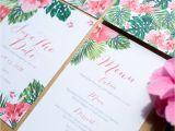 Hawaiian theme Wedding Invitations Tropical Hawaiian Wedding Invitation by sincerely May