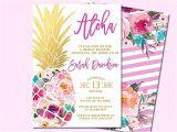 Hawaiian themed Bridal Shower Invitations 25 Best Ideas About Luau Party Invitations On Pinterest