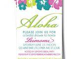 Hawaiian themed Bridal Shower Invitations Hawaiian Bridal Shower Invitation Hibiscus Wedding by