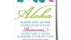 Hawaiian themed Bridal Shower Invitations Hawaiian Bridal Shower Invitation Hibiscus Wedding by