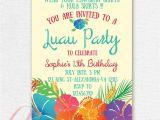 Hawaiian themed Bridal Shower Invitations Templates Invitations Templates Birthday Businnes Card Invitation