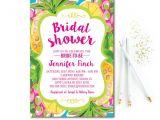 Hawaiian themed Bridal Shower Invitations Templates Tropical Bridal Shower Invitation Pineapple Bridal