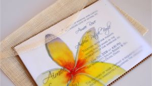 Hawaiian Wedding Invitations Styles Eco Friendly Market Hawaiian Wedding Invitation with