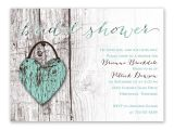 Heart Bridal Shower Invitations Wood Heart Bridal Shower Invitation