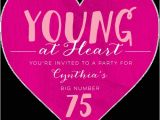 Heart Shaped Birthday Invitations 75th Birthday Invitations 50 Gorgeous 75th Party Invites