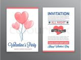 Heart Shaped Birthday Invitations Valentine 39 S Party Invitation with Heart Shaped Balloons