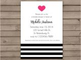 Heart themed Bridal Shower Invitations Items Similar to Bold Heart Bridal Shower Invitations