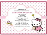 Hello Kitty Baby Shower Invitations Free Cute Hello Kitty Baby Girl Shower Invitations Bs068