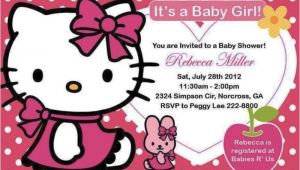 Hello Kitty Baby Shower Invitations Free Hello Kitty Baby Shower Invitations and Decorations