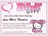 Hello Kitty Baby Shower Invitations Free Hello Kitty Baby Shower Invitations Templates Ideas