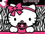 Hello Kitty Baby Shower Invitations Free Hello Kitty Zebra Print Printable Baby Shower Party