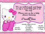 Hello Kitty Baby Shower Invitations Free Personalized Baby Hello Kitty Baby Shower Girl Invitation
