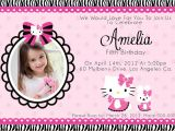 Hello Kitty Baptismal Invitation Layout Christening Invitation Hello Kitty Blank Template