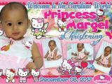 Hello Kitty Baptismal Invitation Layout Hello Kitty Tarpaulin Design for Christening Get Layout