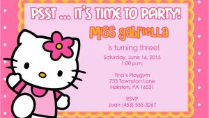 Hello Kitty Birthday Invitation Template 40th Birthday Ideas Hello Kitty Birthday Invitation