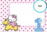 Hello Kitty Birthday Invitation Template Free Download Free Hello Kitty 1st Birthday Invitation Template Free