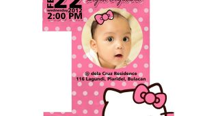 Hello Kitty First Birthday Party Invitations F1 Digital Scrapaholic Hello Kitty 1st Birthday 2 Page