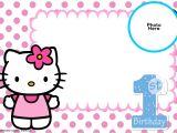 Hello Kitty First Birthday Party Invitations Free Hello Kitty 1st Birthday Invitation Template Free