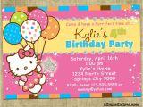 Hello Kitty First Birthday Party Invitations Personalized Hello Kitty Birthday Invitations
