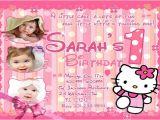 Hello Kitty First Birthday Party Invitations Printable Birthday Invitations Free Premium Templates
