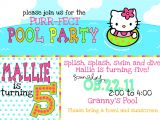 Hello Kitty Pool Party Invitations Hello Kitty Pool Cake Ideas and Designs