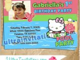 Hello Kitty Pool Party Invitations Hello Kitty Pool Party Invitations Birthday Card