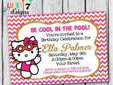 Hello Kitty Pool Party Invitations Hello Kitty Pool Party Invitations